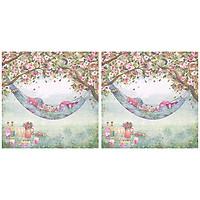 Combo 2 Xấp Khăn Giấy Ăn Trang Trí Bàn Tiệc Tissue Napkins Design Ti-Flair 363414 (33 x 33 cm) - 40 tờ