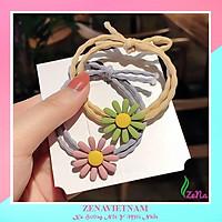 Dây buộc tóc hoa cúc đẹp chi nhiều màu sắc hot trend 2020 ZENA 100