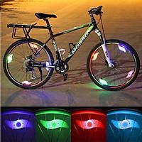 Đèn led gắn nan hoa xe đạp nhiều màu sắc, an toàn khi đi xe đạp buổi tối