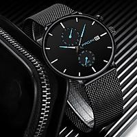 Đồng hồ nam OLEVS dây da kim dạ quang OL6898 - Chống nước chống xước cao cấp - Mặt Trắng