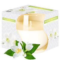 Ly nến thơm tinh dầu Bispol White Flowers 100g QT024774 - hoa nhài tây