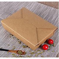 Hộp giấy nâu kraft nắp cài chéo size 1400ml ( 50 cái/gói )