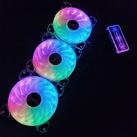 3 Quạt Tản Nhiệt, Fan Case YUPO K5 Led RGB Dual Ring, tặng kèm bộ Hub khiển Led RGB