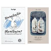 Combo Truyện Ngắn, Tản Văn, Tạp Văn Đặc Sắc: Đàn Ông Hay Hứa, Phụ Nữ Hay Tin + Buồn Làm Sao Buông (Top Sách Văn Học Bán Chạy - Tặng Kèm Bookmark Happy Life)
