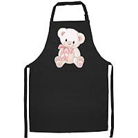 Tạp Dề Làm Bếp In Hình Gấu Hồng đáng yêu- Hàng Cao Cấp Chính Hãng