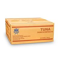 Sea Crown cá Ngừ xắt khúc ngâm dầu thực vật  (NK Thái Lan)-Thùng 48 lon