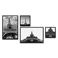 Bộ 4 Khung Hình Kính Treo Tường Tặng bộ ảnh như hình mẫu, Đinh Treo Tranh và sơ đồ treo - Khung Hình Phạm Gia PGCTK57