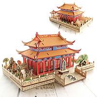 Đồ chơi lắp ráp gỗ 3D Mô hình Học viện Khổng tử Confucius Institute - Tặng kèm Đèn LED trang trí