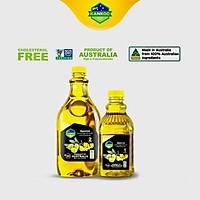 Combo Dầu ăn Oliu hạt cải Kankoo nhập khẩu từ Úc (chai 1 lít + chai 2 lít)