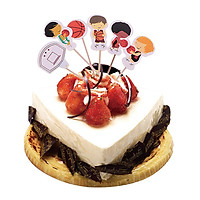 24pcs Lovely Basketball Boy Cupcake Picks Toppers Party Favors Decoration