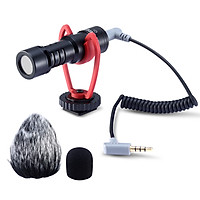 SAIREN VM-Q1 Professional Video Microphone High Sensitivity Low Noise Cardioid Directional On-Camera Mic Compatible with