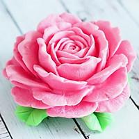 Khuôn silicon làm rau câu hoa hồng Korea đại đóa