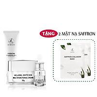 Bộ 3 sản phẩm Trắng Da Ngừa Nám KN Beauty chuyên sâu:Kem dưỡng + Serum + Sữa rửa mặt  (Tặng 2 Mặt Nạ)