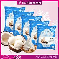 [ĂN BAO GHIỀN❤️] Combo 5 Gói Bột Làm Kem Tươi ThucPham.Com Vị Dừa- Túi 1kg - Được Chứng Nhận HTQL An Toàn Thực Phẩm ISO 22000:2018