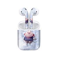 Miếng dán skin chống bẩn cho tai nghe AirPods in hình Heo con dễ thương - HEO2k19 - 012 (bản không dây 1 và 2)