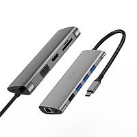 Hub chuyển đa năng WIWU Alpha 11 in 1 USB-C A11 - Hàng nhập khẩu