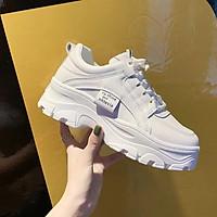 Giày Sneaker nữ độn đế đẹp tem chữ mẫu mới năm 2021 h56