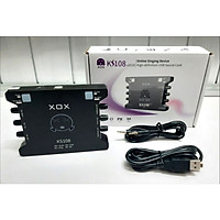 Sound card XOX KS108 (Phiên bản k10 quốc tế 2019 cải tiến ic)