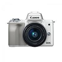 Máy Ảnh Canon M50 Kit 15-45mm IS STM (Hàng Chính Hãng) - Tặng Thẻ 16GB + Túi Máy + Tấm Dán LCD - Trắng