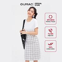 Áo thun nữ GUMAC ATB811 cổ tròn tay lật nhiều màu năng động