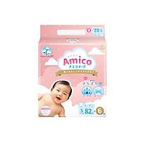 Bỉm - Tã dán Amico size S 82+ 6 miếng (Cho bé 4 - 8 kg)