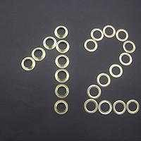 Mắt cáo 12mm vàng túi 100 cặp chuyên bấm bạt
