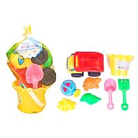 Đồ chơi đi biển HT864 (Xô, xe ben và đồ chơi đào cát, size nhỏ, giao màu ngẫu nhiên)