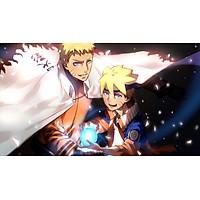 Poster A4 dán tường Anime, decal 21x30 trang trí có keo Boruto Naruto the Movie Wallpapers (2).jpg