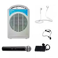 Máy trợ giảng không dây Shuke Sk-290, Có Bluetooth, 3 Mic không dây: 1 mic cài áo + 1 mic cài đầu + 1 mic cầm tay, Kèm tai nghe Bluetooth Siêu Bass Có Mic Đàm Thoại Thích Hợp các cuộc họp, hội nghị và học trực tuyến trên Zoom - Hàng nhập khẩu