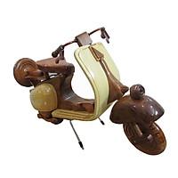 Mô hình xe vespa gỗ (gỗ màu)