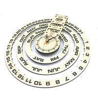 Đồng hồ treo tường 3 vòng ngày thứ tháng vạn niên trang trí quà tặng độc đáo