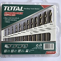 Bộ 12 mũi khoan kim loại Total TACSD0125