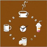 Đồng hồ trang trí treo tường cafe - gắn tường sáng tạo loại nhỏ DH03-2D