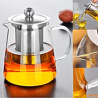Ấm pha trà thuỷ tinh cao cấp chịu nhiệt 750ml