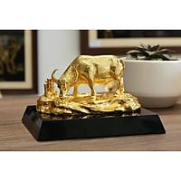 Tượng trâu vàng An Lạc (cỡ 11cm)