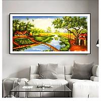 Tranh Canvas sơn dầu Một góc miền tây sông nước - OEM. Model: AZ1-0145 (Bộ 1 bức), Khung hợp kim nhôm, Composite chống ẩm, bền, đẹp, nhiều kích thước. Phù hợp khách sạn, nhà hàng, spa, phòng khách