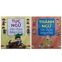 Combo 2 cuốn Tục ngữ Việt Nam bằng tranh và Thành ngữ Việt Nam bằng tranh