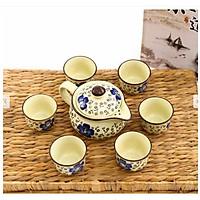 Bộ ấm chén hoa anh đào( màu ngẫu nhiên) + Tặng kèm 1 khay trà