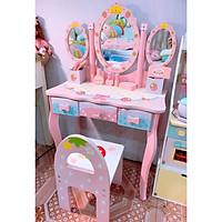 Đồ Chơi Gỗ - Bộ đồ chơi bàn trang điểm dành cho bé gái điệu đà, nữ tính MG (Mẫu lớn)