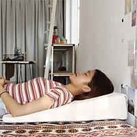 Gối chống trào ngược dạ dày thực quản người lớn Ema cao 14cm giúp giảm trào ngược dạ dày, viêm họng mãn tính, nuốt vướng, nghẹn cổ, khó thở khi ngủ, ngáy ngủ