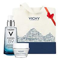 Dưỡng Chất Khoáng Cô Đặc Vichy Mineral 89 (50ml) + Tặng Kèm Aqualia Gel (15ml) + Túi Tote Vichy Cao Cấp