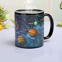 Ly uống nước đổi màu in hình 12 chòm sao hệ mặt trời