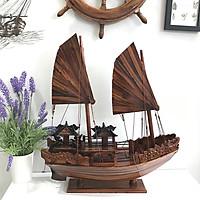 Mô hình thuyền gỗ trang trí Hạ Long Rồng - thân tàu 40cm - gỗ tràm