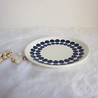 Đĩa Sứ Trắng Nhỏ Đựng Thức Ắn 15cm - Nhiều Họa Tiết - Gốm Sứ Nhật Hàng Cao Cấp - Cổ ĐIển Pha Lẫn Tinh Xảo