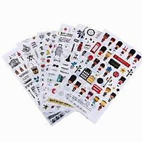 Bộ 6 tấm sticker dán trang trí Midnight Paris
