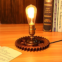 Retro Loft Industrial Fixture Transformed by Iron Pipe Table Desk Lamp Light