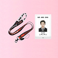 Combo dây đeo thẻ EXO và card cứng in 2 mặt SUHO EXO