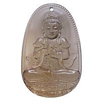 Mặt dây chuyền Như Lai Đại Nhật Thạch anh khói - Phật Bản Mệnh cho người tuổi Mùi, Thân size lớn VietGemstones