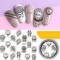 Sticker nails hoa - hình dán móng 3D 3648