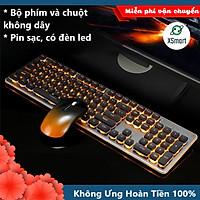 Bộ Bàn Phím Và Chuột Không Dây XSmart GLK350 PRO Có Đèn Led Siêu Đẹp, Sử Dụng Pin Sạc Siêu Trâu, Thiết Kế Mới - Hàng Chính hãng